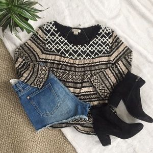 Lucky Brand Aztec Patterned Top